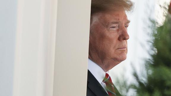 WASHINGTON, DC - MARCH 19: U.S. President Donald Trump awaits the arrival of Brazilian President Jair Bolsonaro at the White House March 19, 2019 in Washington, DC. President Trump is hosting President Bolsonaro for a visit and bilateral talks at the White House today.  (Photo by Alex Wong/Getty Images)