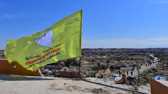 A picture taken on March 23, 2019 shows the US-backed Syrian Democratic Forces