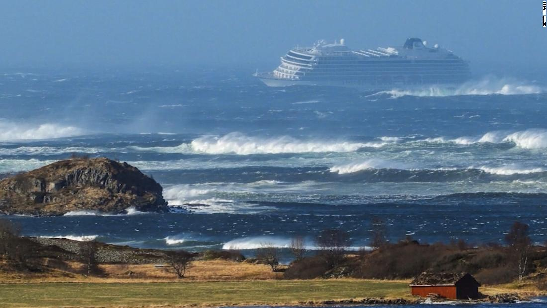 Helicopters sent to rescue 1,300 passengers from cruise ship off Norway