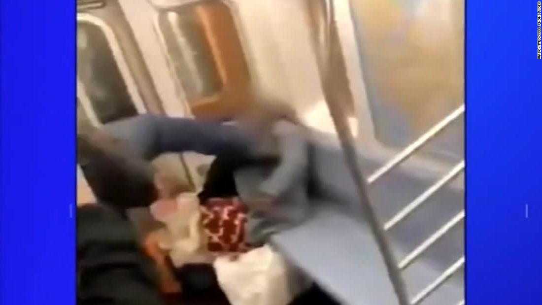 Man is arrested in kicking of an elderly woman on a subway as bystanders shot video