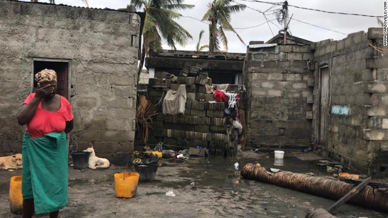 Cyclone Idai flooded this woman's home in the coastal Mozambican city of Beira.