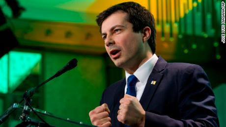 South Bend, Ind., Mayor Pete Buttigieg speaks during the U.S. Conference of Mayors winter meeting in Washington, Thursday, Jan. 24, 2019. (AP Photo/Jose Luis Magana)