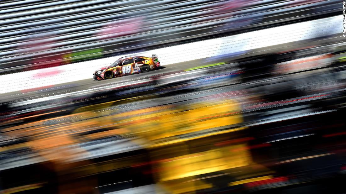 Kyle Busch practices for the Monster Energy NASCAR Cup series STP 500 at Martinsville Speedway on Saturday, March 23.