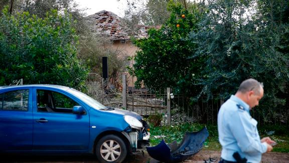 Several people were wounded after the rocket hit the house, authorities said.