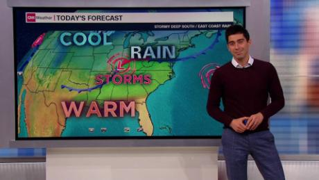 Warm up on the way for the Northeast - CNN Video Daily Weather Maps on