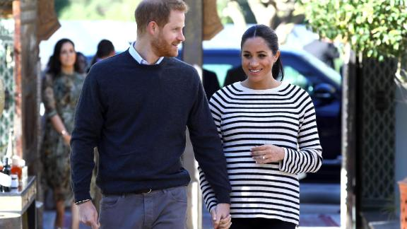 RABAT, MOROCCO - FEBRUARY 25:  Prince Harry, Duke of Sussex and Meghan, Duchess of Sussex arrive for a cooking demonstration, where children from under-privileged backgrounds learn traditional Moroccan recipes from one of Morocco
