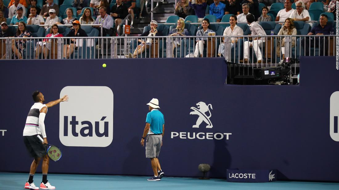 'You got nothing else to do on a Sunday night?' Nick Kyrgios taunts fan after being heckled