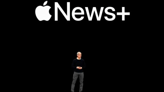 CUPERTINO, CA - MARCH 25:  Apple Inc. CEO Tim Cook speaks during a company product launch event at the Steve Jobs Theater at Apple Park on March 25, 2019 in Cupertino, California. Apple Inc. announced the launch of , it