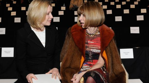 Gillibrand and Vogue editor-in-chief Anna Wintour attend a fashion show in New York in February 2012.