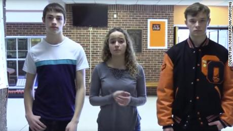 Jonah Hoffman, Paige Tayloe and Trey Fisher are students at Owensville High School in Missouri.