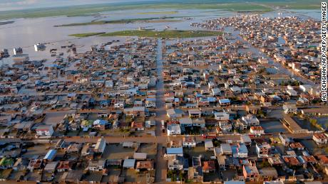 "TOPSHOT - This photograph released by the Iranian news agency Fars News on March 23, 2019, shows flooded streets in the northern Iranian village of Agh Ghaleh. (Photo by Ali DEHGHAN / fars news / AFP) / XGTY / === RESTRICTED TO EDITORIAL USE - MANDATORY CREDIT ""AFP PHOTO / HO /FARS NEWS"" - NO MARKETING NO ADVERTISING CAMPAIGNS - DISTRIBUTED AS A SERVICE TO CLIENTS === == best quality available==        (Photo credit should read ALI DEHGHAN/AFP/Getty Images)"