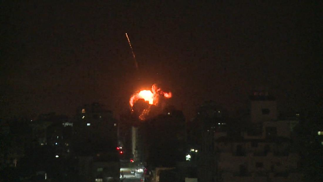 After rocket hits house near Tel Aviv, Israel strikes Hamas targets in Gaza