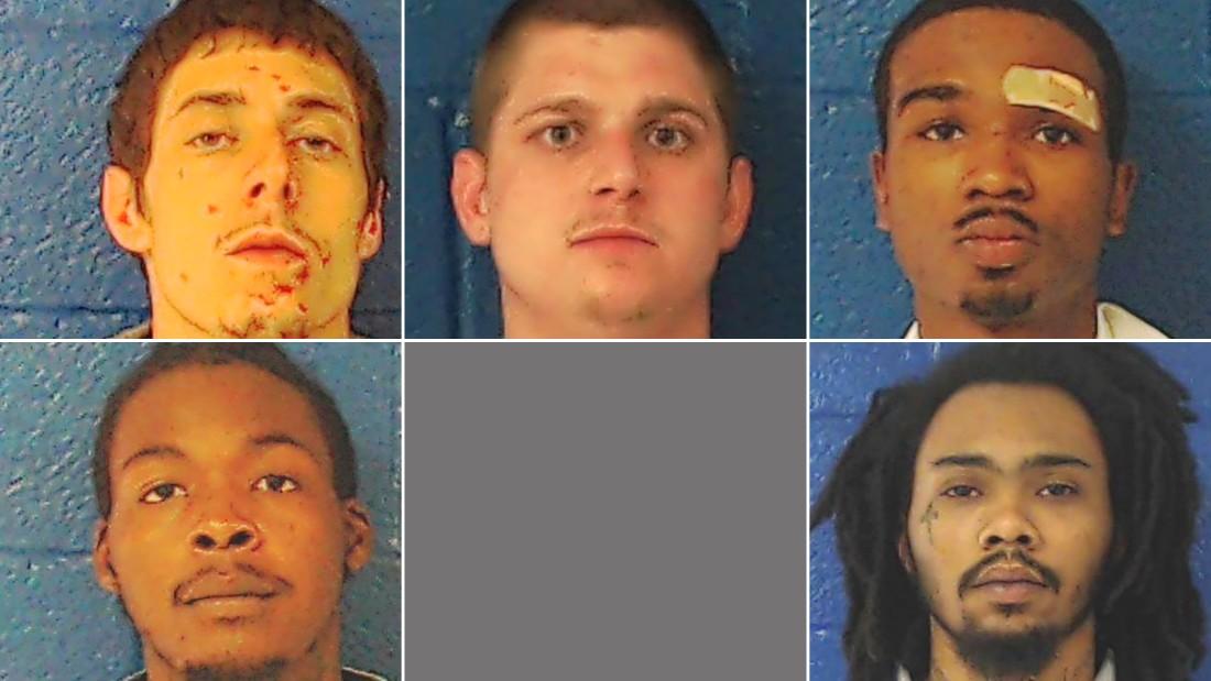 Five escape from a North Carolina jail