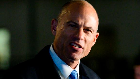 Attorney Michael Avenatti speaks to the press after leaving the federal court house in Manhattan on March 25, 2019 in New York City. - Michael Avenatti, who shot to fame as the lawyer of adult film star Stormy Daniels, was arrested on March 25, 2019, on charges of trying to extort more than $20 million from Nike and for embezzling from a client. The celebrity attorney, who represented Daniels in her lawsuit against President Donald Trump, was arrested in New York based on separate complaints filed in that city as well as Los Angeles. (Photo by Johannes EISELE / AFP)        (Photo credit should read JOHANNES EISELE/AFP/Getty Images)