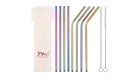 """<strong>Sip your drinks with an eco-friendly rainbow metal straw</strong> Stainless Steel Rainbow Metal Straws Set of 8 ($9.97; <a href=""""https://amzn.to/2Yf8ff0"""" target=""""_blank"""" target=""""_blank"""">amazon.com</a>)"""