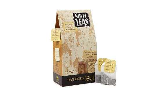 """<strong>Have a cup of tea while reading quotes from literary greats</strong> Novel Teas ($13; <a href=""""http://bit.ly/2YgBYnN"""" target=""""_blank"""" target=""""_blank"""">uncommongoods.com</a>)"""