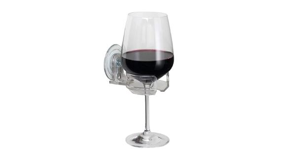 """<strong>Finally, an easier way to enjoy a glass of wine while you take a bath</strong> SipCaddy Bath & Shower Cupholder ($13.95; <a href=""""https://amzn.to/2U1XoWx"""" target=""""_blank"""" target=""""_blank"""">amazon.com</a>)"""