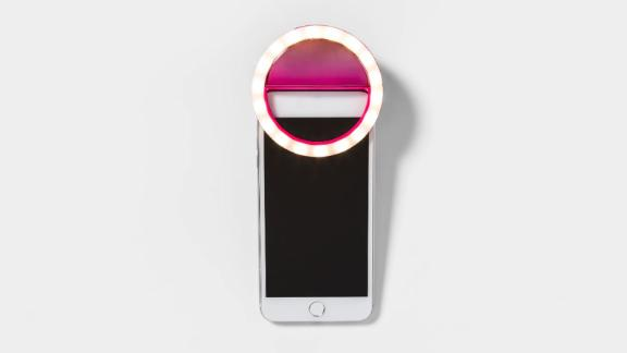 """<strong>A clip-on light that will let you take even more double tap-worthy selfies</strong> Heyday Cell Phone Selfie Light ($9.99; <a href=""""http://bit.ly/2Tsktx4"""" target=""""_blank"""" target=""""_blank"""">target.com</a>)"""