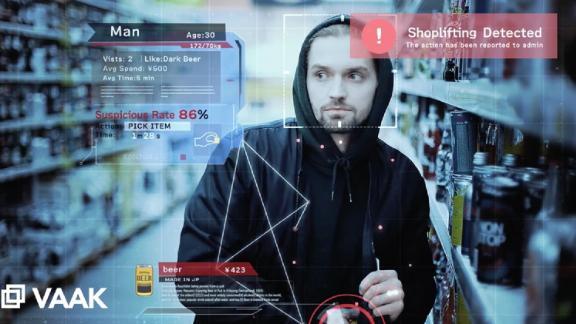 VaakEye software monitors security-camera footage to spot suspicious behavior.