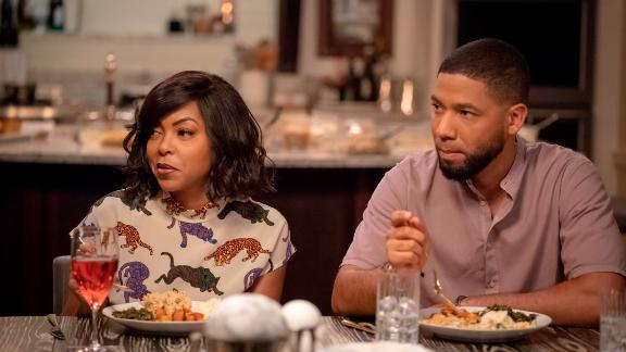 """EMPIRE: L-R: Taraji P. Henson and Jussie Smollett in the """"Treasons, Stratagems, and Spoils"""" episode of EMPIRE airing Wednesday, Nov. 14 (8:00-9:00 PM ET/PT) on FOX. ©2018 Fox Broadcasting Co. CR: Chuck Hodes/FOX."""