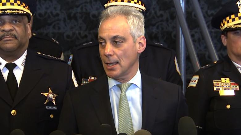 """""""A grand jury saw the evidence (and) realized this was a hoax,"""" Mayor Rahm Emanuel said."""