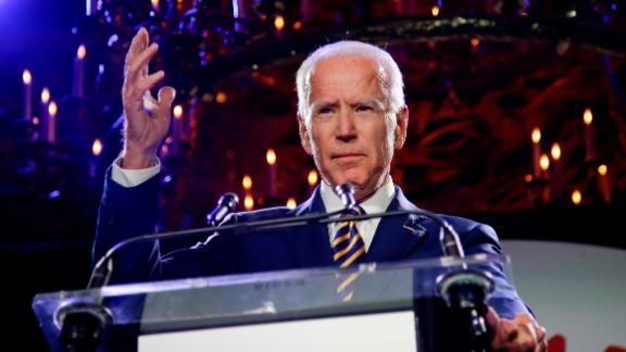 Former Vice President Joe Biden speaks at the Biden Courage Awards Tuesday, March 26, 2019, in New York. (AP/Frank Franklin II)