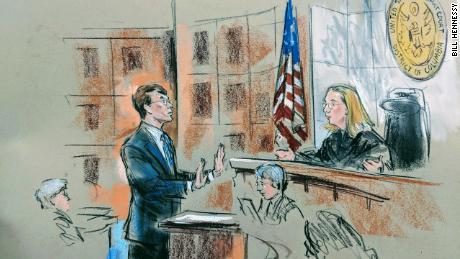 Assistant federal prosecutor David Goodhand speaks to US District Judge Beryl Howell on March 27, 2019.