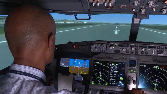 Boeing 737 Max simulator flight