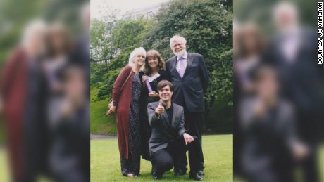 Jo Cameron left his family.