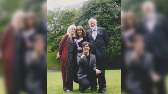 Jo Cameron, left, with her family.