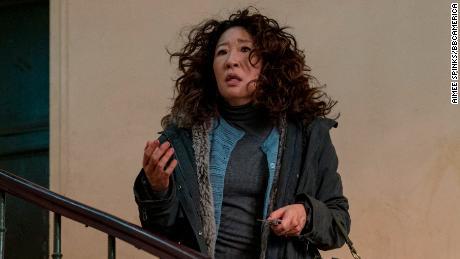 Sandra Oh as Eve Polastriin 'Killing Eve'