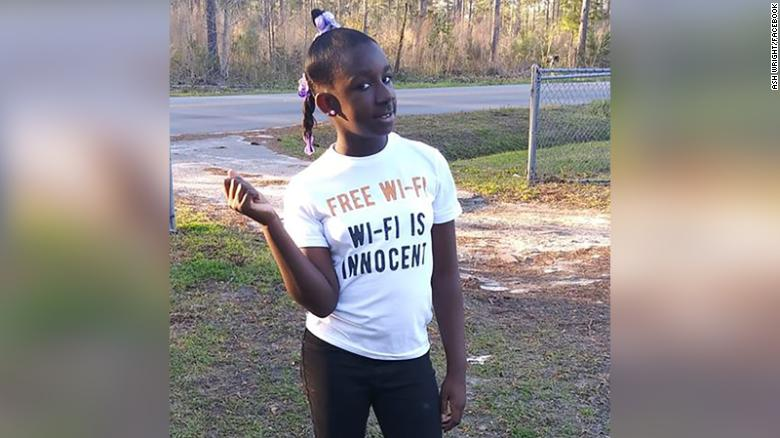 Raniya Wright was a fifth-grader at Forest Hills Elementary School.