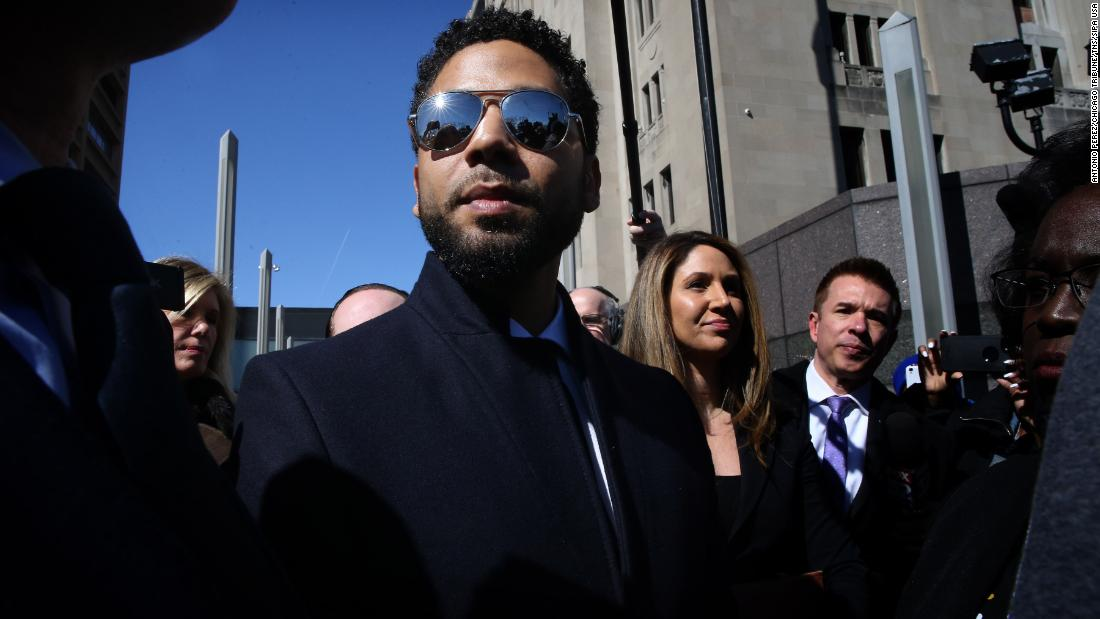 "Actor Jussie Smollett leaves a courthouse in Chicago after <a href=""https://www.cnn.com/2019/03/28/us/jussie-smollett-backlash-thursday/index.html"" target=""_blank"">all charges against him were dropped</a> on Tuesday, March 26. Smollett told police that two men attacked him on January 29 and yelled racist and homophobic slurs while striking him, police said. Police initially investigated the case as a possible hate crime, but they later said they believed the attack was staged by Smollett to bolster his profile and career. Smollett faced 16 felony disorderly conduct charges, but those charges were dropped after the actor forfeited his bail money and did community service. The prosecutor, First Assistant State's Attorney Joe Magats, <a href=""https://www.cnn.com/2019/03/27/entertainment/jussie-smollett-wednesday/index.html"" target=""_blank"">said thousands of cases have similar resolutions.</a> Smollett has maintained his innocence, saying he would not put his family ""through a fire like this"" for a lie."