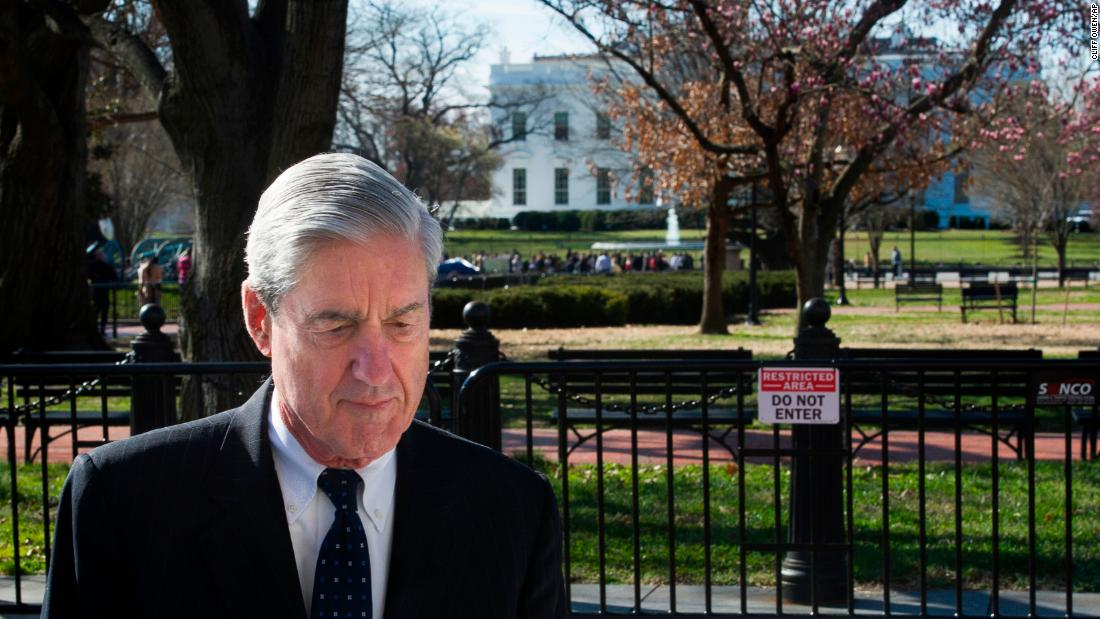 "Special counsel Robert Mueller walks past the White House after attending church services in Washington on Sunday, March 24. <a href=""https://www.cnn.com/2019/03/22/politics/donald-trump-robert-mueller-investigation-finished-presidency-week-in-review/index.html"" target=""_blank"">Mueller's investigation of Russian interference</a> lasted 675 days."