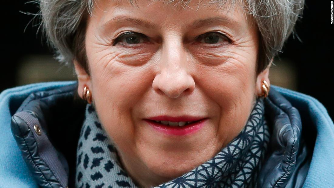 "British Prime Minister Theresa May leaves No. 10 Downing Street in London on Wednesday, March 27. <a href=""https://www.cnn.com/2019/03/27/uk/theresa-may-brexit-intl-gbr/index.html"" target=""_blank"">May offered to resign</a> if lawmakers approved a Brexit deal, but they were unable to reach an agreement."