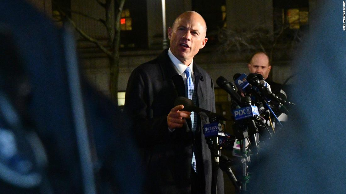 "Attorney Michael Avenatti speaks to the media in New York after he was charged in two criminal cases on Monday, March 25. Federal prosecutors in Manhattan and Los Angeles <a href=""https://www.cnn.com/2019/03/25/politics/michael-avenatti/index.html"" target=""_blank"">charged Avenatti nearly simultaneously,</a> unsealing complaints that alleged he attempted to extort more than $20 million from Nike and that he committed wire and bank fraud. Avenatti was released on a $300,000 bond and said that he is ""highly confident"" that he will be ""fully exonerated."""
