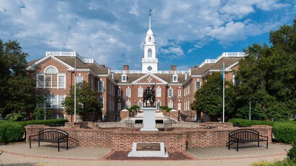 DOVER, DELAWARE - JULY 20: Legislative Hall on July 20, 2015 in Dover, Delaware
