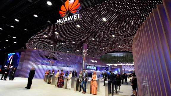 L´HOSPITALET, CATALONIA, SPAIN - 2019/02/27: A view of the Conference headquarters of Huawei at the Mobile World Congress 2019 in Barcelona. (Photo by Ramon Costa/SOPA Images/LightRocket via Getty Images)