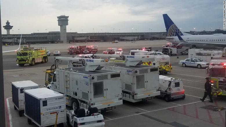 United Airlines flight 1675 diverted to Dulles International Airport earlier today after passengers reported feeling ill from a strong odor in the cabin.