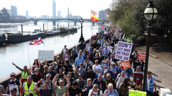 March To Leave Rally Arrives In London, March 29, 2019