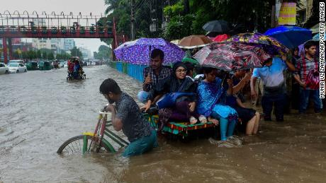 Catastrophic flooding in Bangladesh in 2017 destroyed at least 950,000 houses.