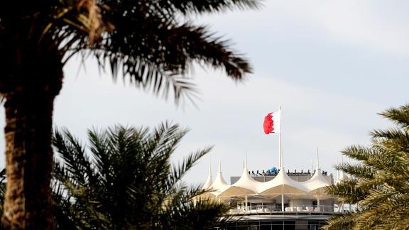 The circuit tower ahead of the Formula One Bahrain Grand Prix at the Bahrain International Circuit.