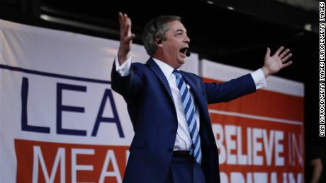 Police stop McDonald's from selling milkshakes near Nigel Farage rally