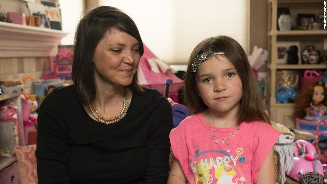 Rebecca Arthur and her 5-year-old daughter, Ivy, at their home in Westminster, Colorado.