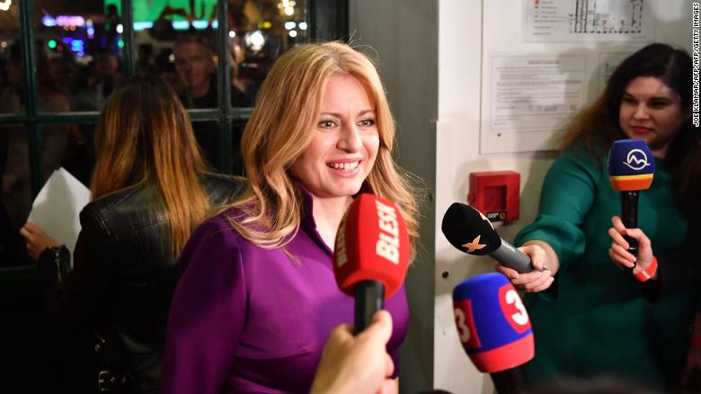 """Newly Slovak President Zuzana Caputova said the result showed """"it is possible not to succumb to populism."""""""