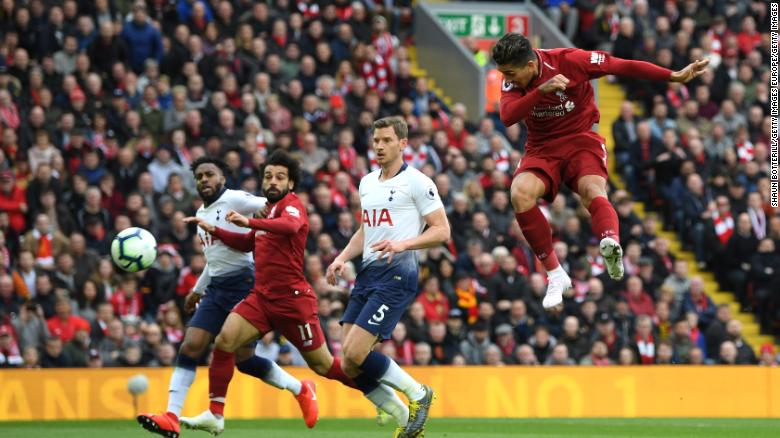 Roberto Firmino's first-half header gave Liverpool the lead.