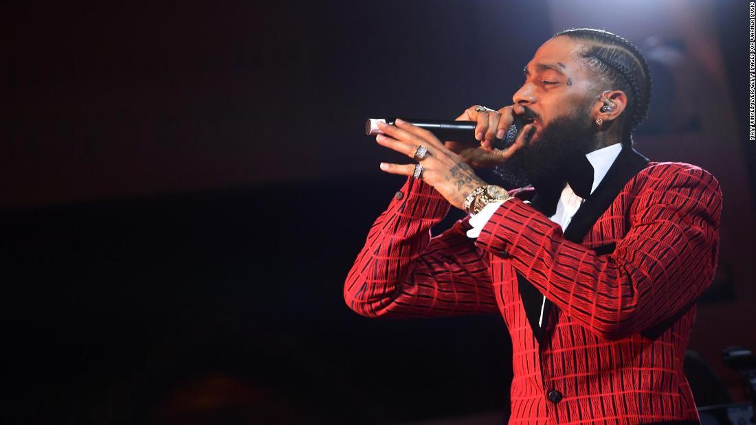 DJ Khaled performs tribute to Nipsey Hussle