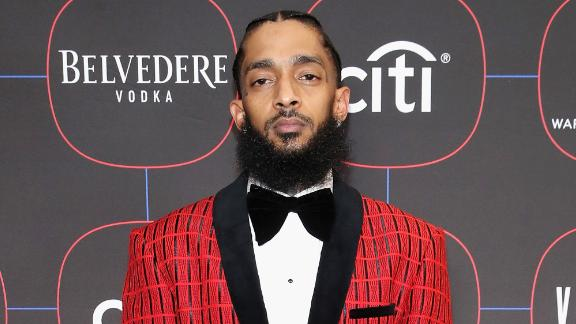 LOS ANGELES, CA - FEBRUARY 07:  Nipsey Hussle attends the Warner Music Pre-Grammy Party at the NoMad Hotel on February 7, 2019 in Los Angeles, California.  (Photo by Randy Shropshire/Getty Images for Warner Music)