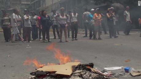 Outraged people protest in Venezuela