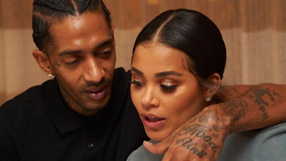 BEVERLY HILLS, CALIFORNIA - NOVEMBER 04:  Nipsey Hussle and Lauren London attend Private Birthday Dinner For Author/Social Media Star Karen Civil at Louis Vuitton Rodeo Drive on November 4, 2016 in Beverly Hills, California.  (Photo by Unique Nicole/Getty Images)